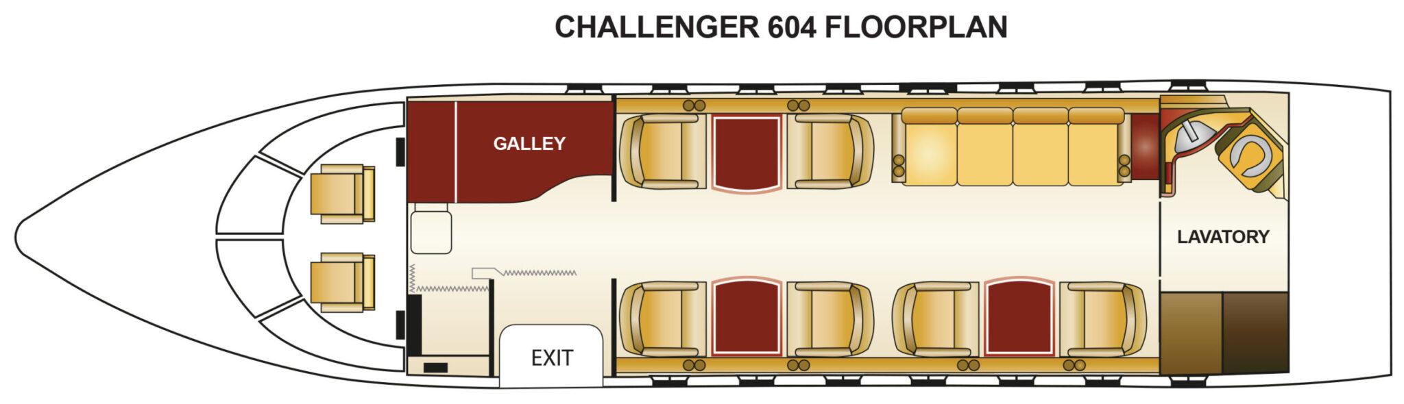 Challenger 604 Floorplan N495DD
